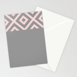 African Details - Grey Pink Stationery Cards