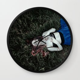 Grass girl Wall Clock