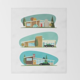 Hollywood Bungalows Throw Blanket