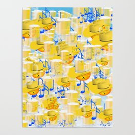 BEERS AND MUSIC EMOJIS Poster