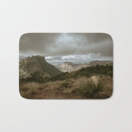 Big Bend Cloudy Mountaintop View - Lost Mine Trail - Landscape Photography Bath Mat