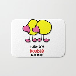 Twins Are Double The Fun! Bath Mat