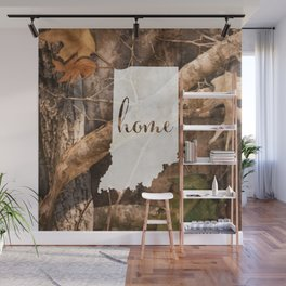 Indiana is Home - Camo Wall Mural