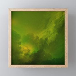 Fantasy Sci-Fi Green Galaxy Universe Framed Mini Art Print
