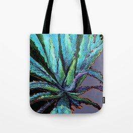 BLUE DESERT AGAVE CACTI PASTEL ART Tote Bag