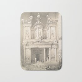Vintage Illustration of Petra (1849) Bath Mat