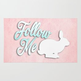 Follow the White Rabbit Rug