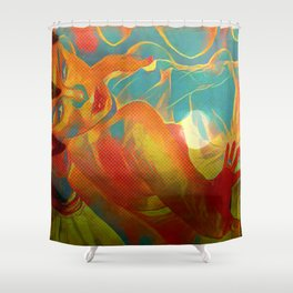 Within Her Lair She Waits Shower Curtain