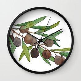 Olive leaf Wall Clock