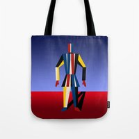 soldier Tote Bags featuring TIN SOLDIER by THE USUAL DESIGNERS