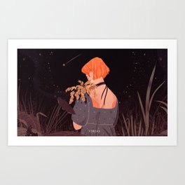 astrology series: virgo Art Print