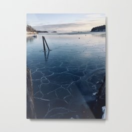 A Cold Day at the Harbor Metal Print