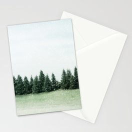 Pine Line Snow Stationery Cards