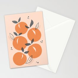 Minimal Summer Peaches & Apricots Stationery Cards