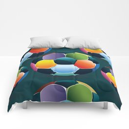 Colorful Soccer Ball Comforters