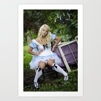 alice in wonderland Art Prints featuring Alice in Wonderland- Alice by Jennifer Markotay