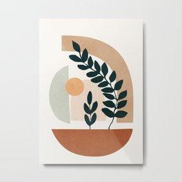 Soft Shapes III Metal Print