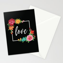 Floral Love I. Stationery Cards