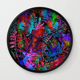 Colorful jungle Wall Clock