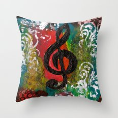 Create Music  Throw Pillow