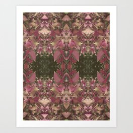 Red Shiso Warm Tones Pattern Art Print