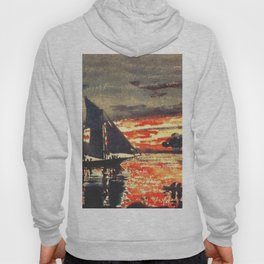 Sunset Fires 1880 By WinslowHomer | Reproduction Hoody
