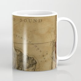 Map Of Oyster Bay 1778 Coffee Mug