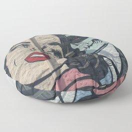 Undead Romance in Miami Floor Pillow