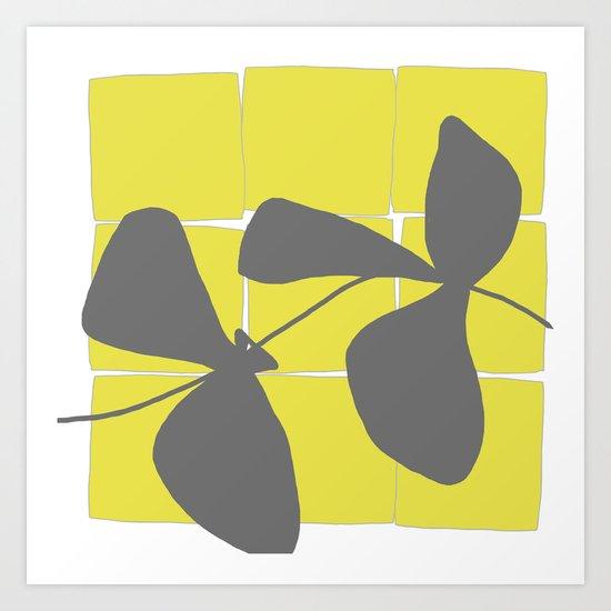 Lemon Pop Three Art Print