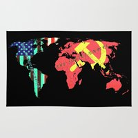 soviet Area & Throw Rugs featuring The American Empire and The Soviet Empire by Design Gregory