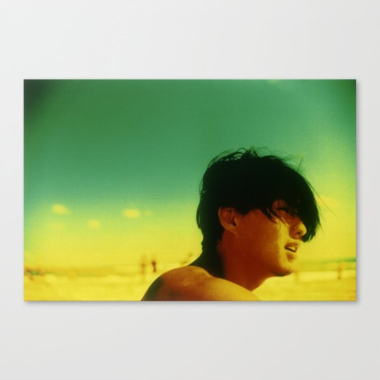 Asian Green and Yellow Canvas Print