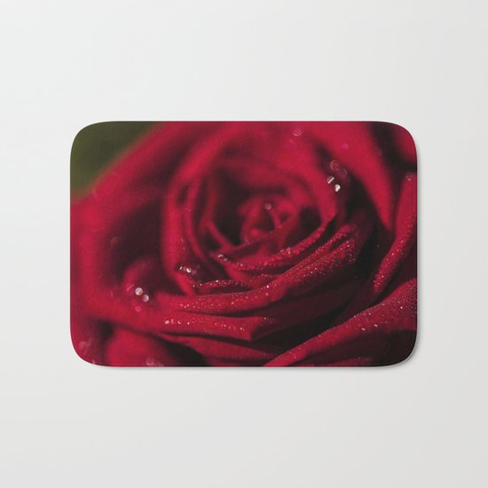 Fire-Red-Rose - Roses Flowers Bath Mat