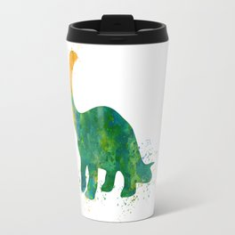Watercolor Apatosaurus Dinosaur Wall Print Travel Mug