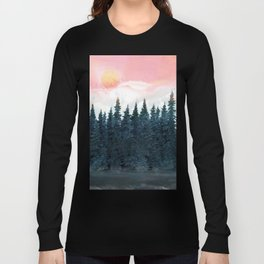 Forest Under the Sunset Long Sleeve T-shirt