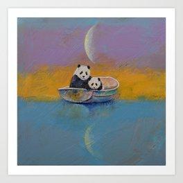 Panda Lake Art Print