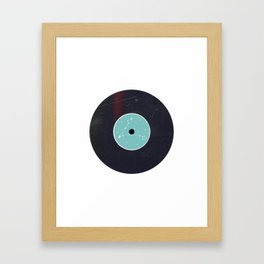 Vinyl Record Star Sign Art | Pisces Framed Art Print