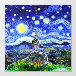 triforce link starry night Canvas Print