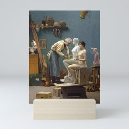 Jean-Léon Gérôme - Working in Marble, or The Artist Sculpting Tanagra Mini Art Print