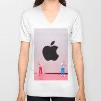 mac V-neck T-shirts featuring Hungry Mac by Encolhi as Pessoas