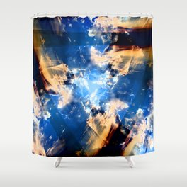 A Space Oddity Shower Curtain