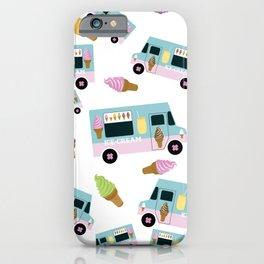Retro Ice cream Truck Pattern iPhone Case