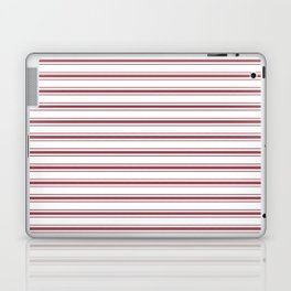 Dark Red Pear Mattress Ticking Wide Striped Pattern - Fall Fashion 2018 Laptop & iPad Skin