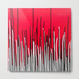 Piano Grass Metal Print