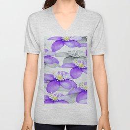 Spring Forest Blue Flowers #decor #society6 #buyart Unisex V-Neck