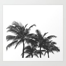 Simple palm trees Art Print