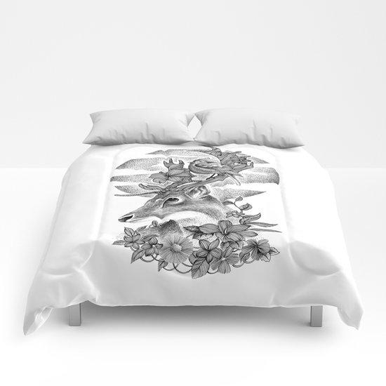 THE DEER AND THE BIRD Comforters