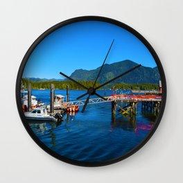 Tofino Harbor, Vancouver Island BC Wall Clock