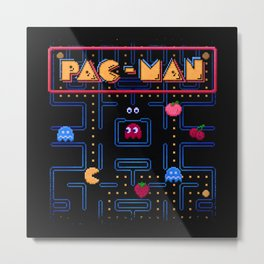 Man-Pac Metal Print