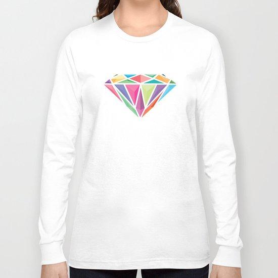 Geometric Diamond Long Sleeve T-shirt