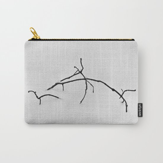 Branch in snow Carry-All Pouch